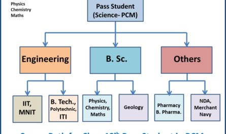 career-guide-12th-pass-student-science-pcm-flow-chart