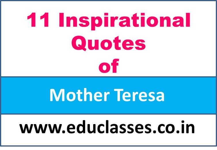 11 Inspirational Quotes of Mother Teresa