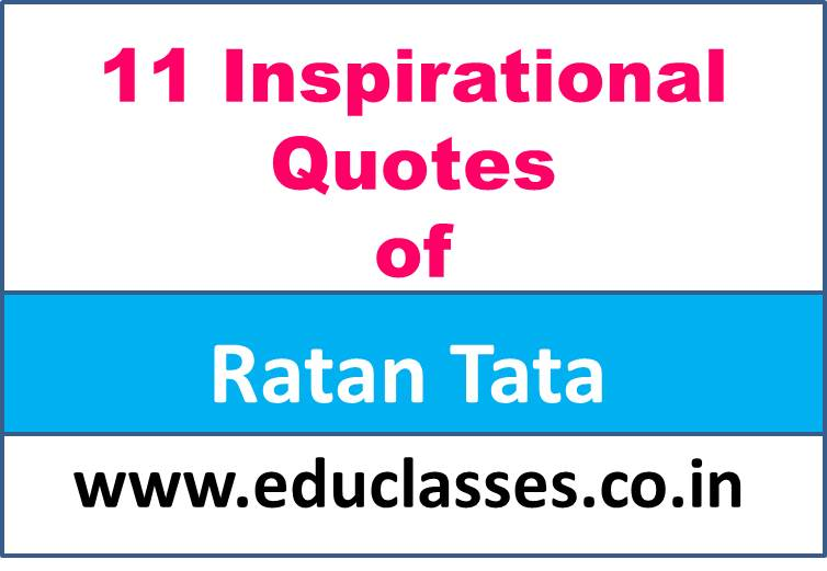 11 Inspirational Quotes of Ratan Tata