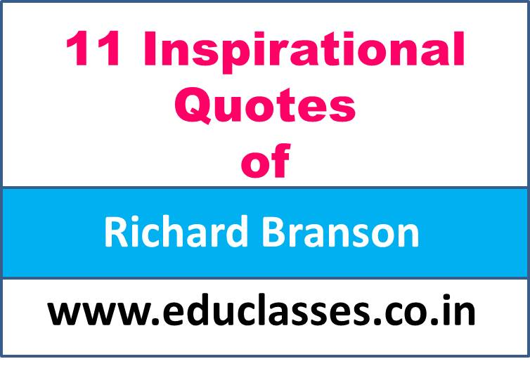 11 Inspirational Quotes of Richard Branson