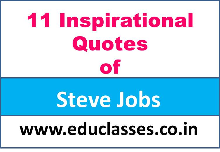 11 Inspirational Quotes of Steve Jobs