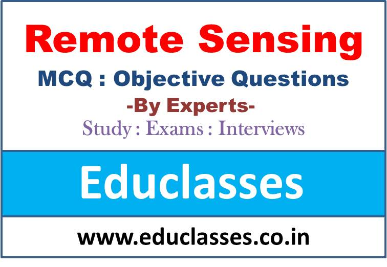 Remote Sensing MCQ Test Series – Mihir Ghosh