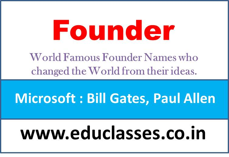 World Famous Founder Names who changed the World from their Idea.