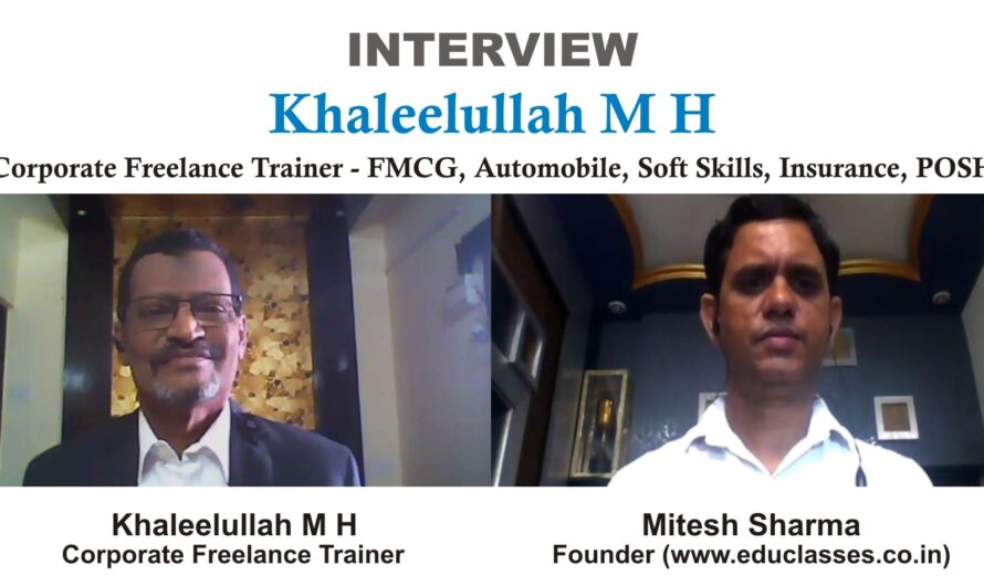 Now, every company is giving an importance to Soft Skills Training. – Khaleelullah M H