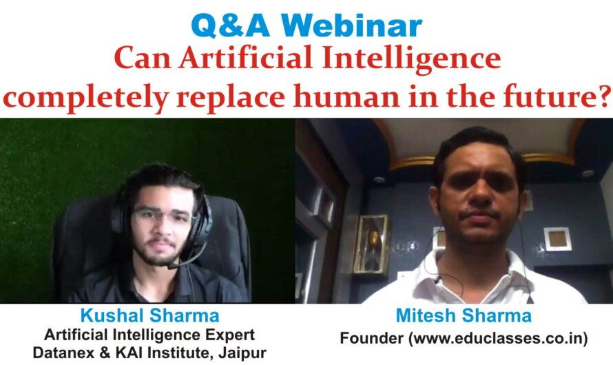 Q&A Webinar with Kushal Sharma (Datanex.in and KAI Institute of AI, Jaipur) on Artificial Intelligence