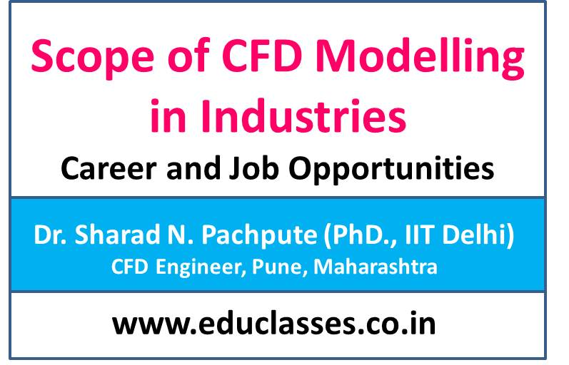 Scope of CFD Modelling in Industries with Career and Job Opportunities. – Dr. Sharad N. Pachpute (PhD., IIT Delhi)