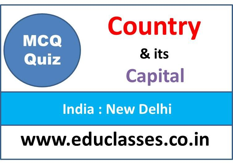 Country and Capital MCQ Test Series : Part II
