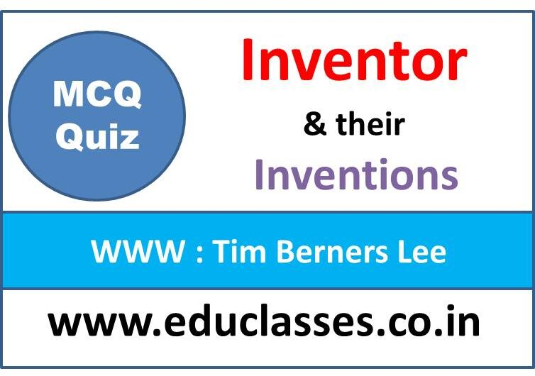 Inventors and their Inventions MCQ Series Quiz
