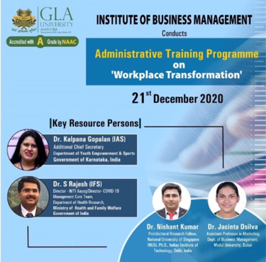 "One-Day Online Administrative Training Programme on ""Workplace Transformation"""