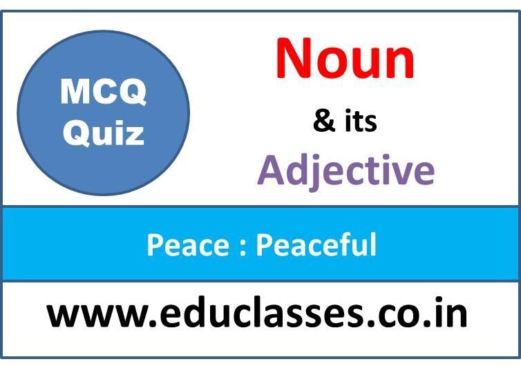 Noun and its Adjective MCQ Quiz